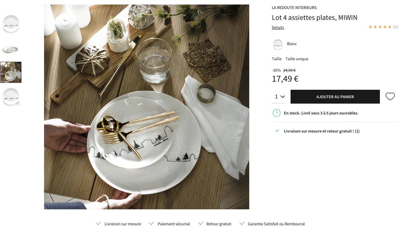 Exemple rédaction de fiche produit sur le site web de La Redoute