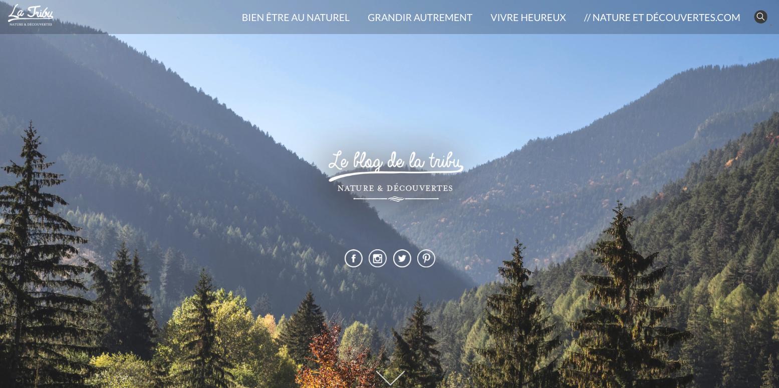 exemple objectif marketing d'un article de blog : le blog de nature et découverte