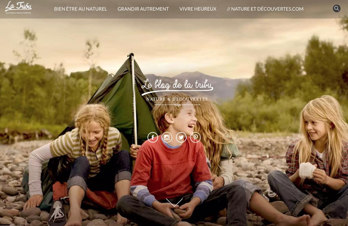 Le blog d'entreprise de Nature et Découvertes est très inspirant