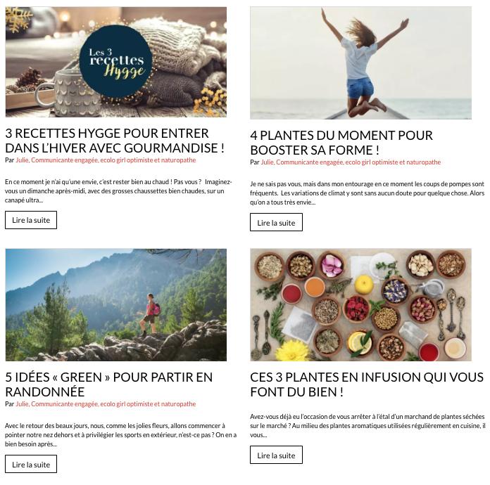Le blog de Nature et Découvertes propose des thématiques différentes