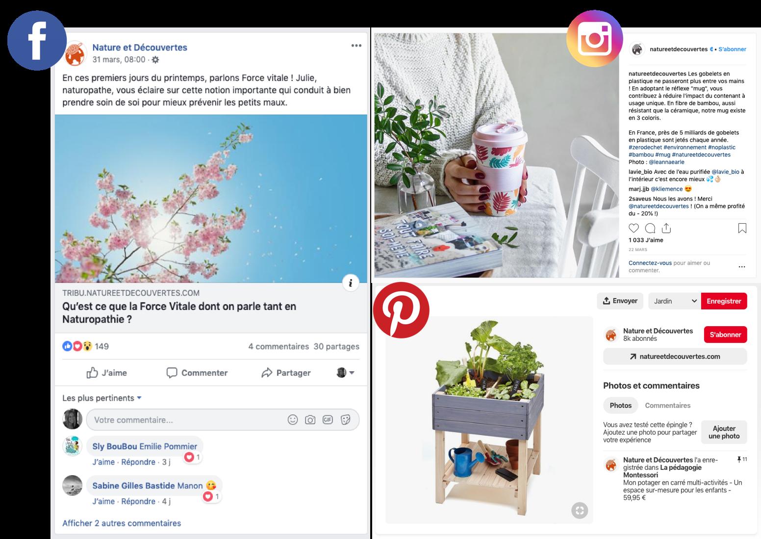 Nature et Découvertes partage ses articles de blog d'entreprise sur les réseaux sociaux