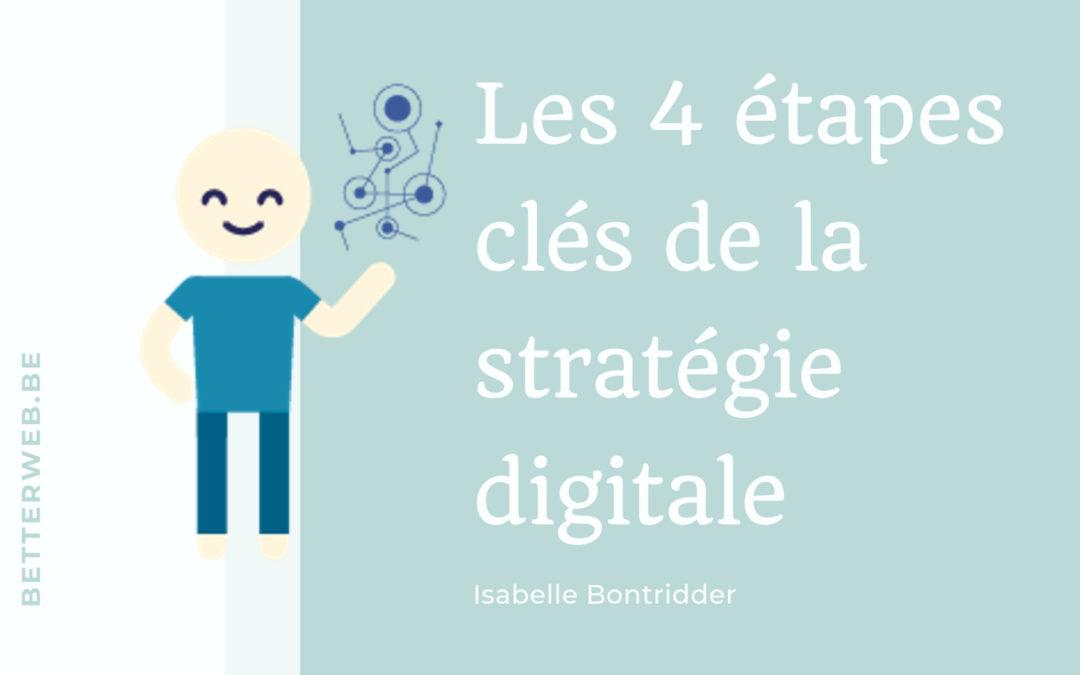 les 4 étapes clés d'une bonne stratégie digitale